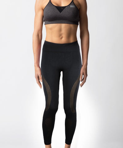 Women's Seamless Black Legging - Front View