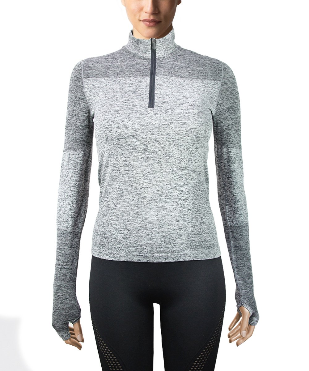 Women's Seamless Quarter zip Jacket - Front View