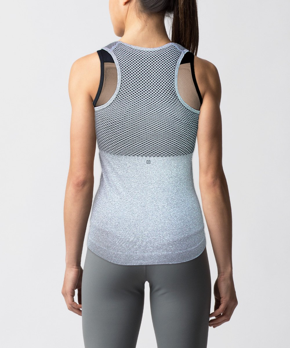 Women's Seamless gray tank - Back View