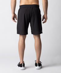 Black, ultra-lightweight functional fitness short designed for recreational or competitive CrossFit athletes.  Constructed with laser cut details for ventilation and a comfortable waistband for flexibility.