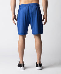 Blue, lightweight training short for recreational or competitive CrossFit athletes.  The short features a wider leg opening and shorter inseam for enhanced mobility.