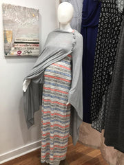 Seraphine dress and shawl at Swan Maternity