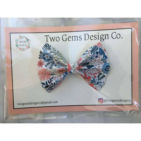 Hair Bow - Cinched (Bouquet)-Baby-Two Gems Design Co.-[color]-Swan Maternity | Baby-[size]