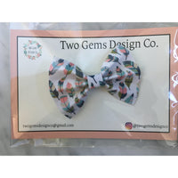 Hair Bow - Cinched (Feathers)-Baby-Two Gems Design Co.-[color]-Swan Maternity | Baby-[size]