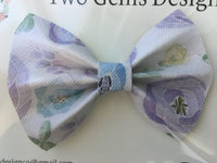 Hair Bow - Cinched (Garden)-Baby-Two Gems Design Co.-[color]-Swan Maternity | Baby-[size]