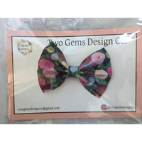 Hair Bow - Cinched (Poppies)-Baby-Two Gems Design Co.-[color]-Swan Maternity | Baby-[size]