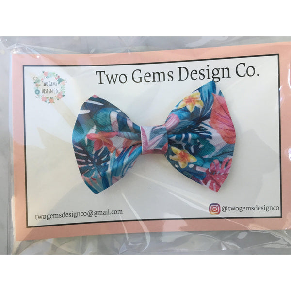 Hair Bow - Cinched (Tropical)-Baby-Two Gems Design Co.-[color]-Swan Maternity | Baby-[size]