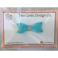 Hair Bow - Classic (Blue)-Baby-Two Gems Design Co.-[color]-Swan Maternity | Baby-[size]