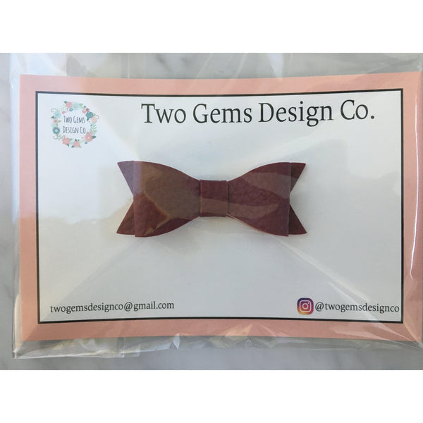 Hair Bow - Classic (Burgundy)-Baby-Two Gems Design Co.-[color]-Swan Maternity | Baby-[size]