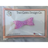 Hair Bow - Classic (Pink Sparkle)-Baby-Two Gems Design Co.-[color]-Swan Maternity | Baby-[size]