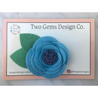 Hair Bow - Felt (Blue)-Baby-Two Gems Design Co.-[color]-Swan Maternity | Baby-[size]