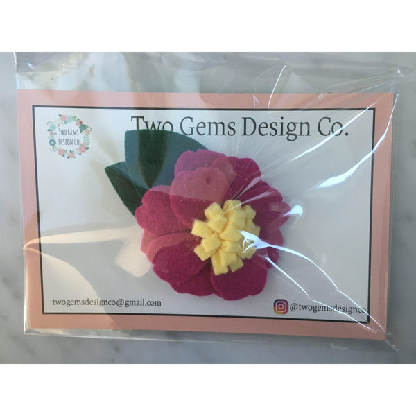 Hair Bow - Felt (Burgundy)-Baby-Two Gems Design Co.-[color]-Swan Maternity | Baby-[size]
