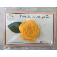Hair Bow - Felt (Marigold)-Baby-Two Gems Design Co.-[color]-Swan Maternity | Baby-[size]