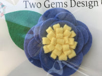 Hair Bow - Felt (Purple/Yellow)-Baby-Two Gems Design Co.-[color]-Swan Maternity | Baby-[size]