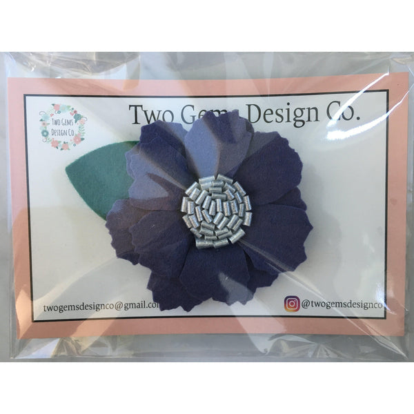 Hair Bow - Felt (Violet)-Baby-Two Gems Design Co.-[color]-Swan Maternity | Baby-[size]