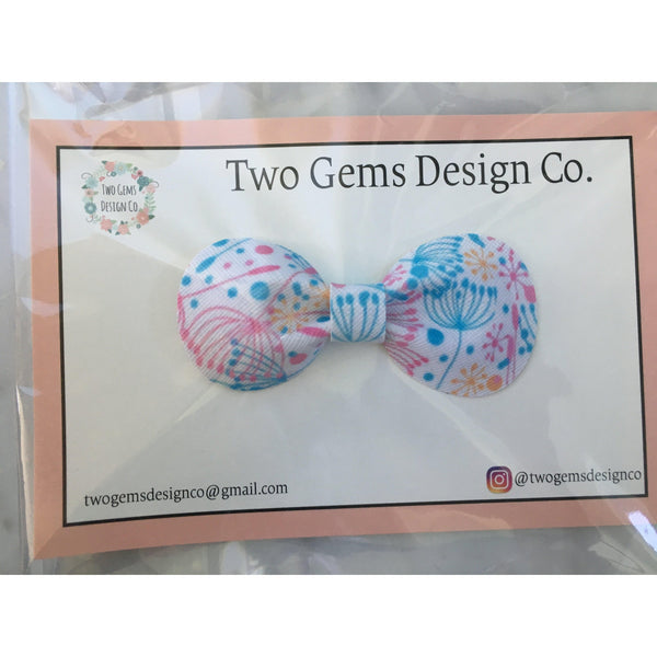 Hair Bow - Rounded (Dandelions)-Baby-Two Gems Design Co.-[color]-Swan Maternity | Baby-[size]