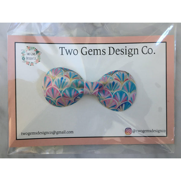 Hair Bow - Rounded (Multi)-Baby-Two Gems Design Co.-[color]-Swan Maternity | Baby-[size]