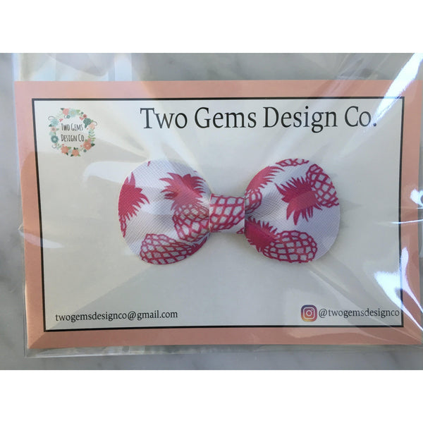 Hair Bow - Rounded (Pineapples)-Baby-Two Gems Design Co.-[color]-Swan Maternity | Baby-[size]
