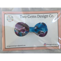 Hair Bow - Rounded (Purple/Blue)-Baby-Two Gems Design Co.-[color]-Swan Maternity | Baby-[size]