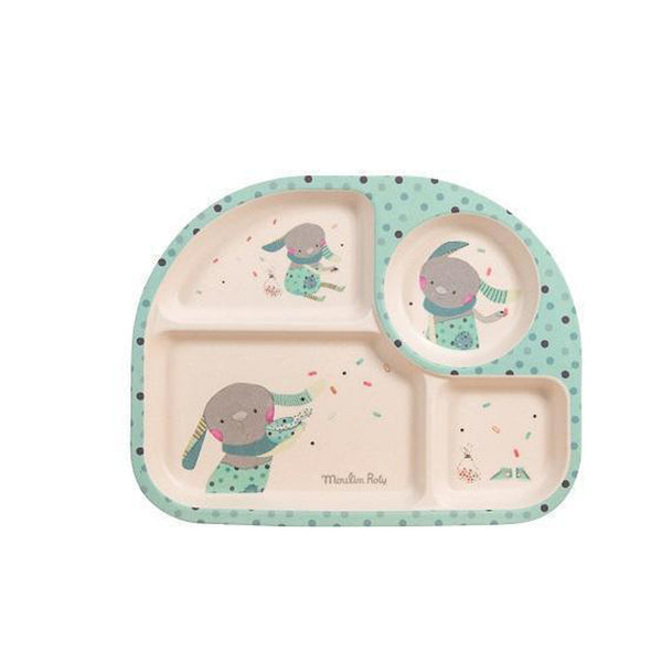 Jolis Trop Beaux Baby Tray (Blue)-Baby-Moulin Roty-[color]-Swan Maternity | Baby-[size]