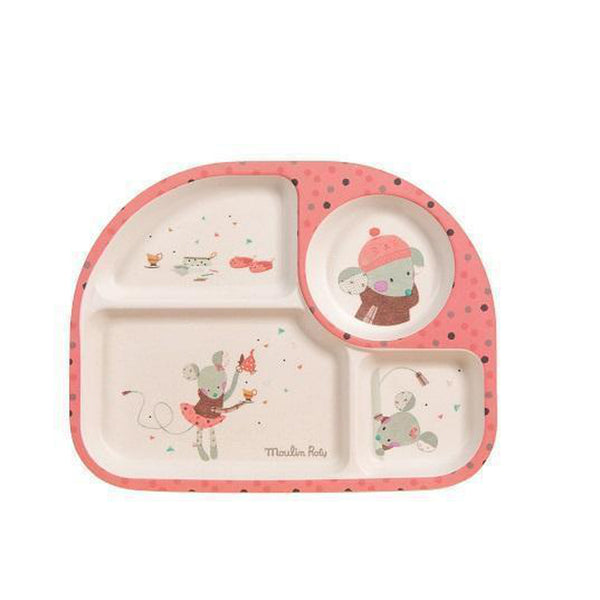 Jolis Trop Beaux Baby Tray (Pink)-Baby-Moulin Roty-[color]-Swan Maternity | Baby-[size]