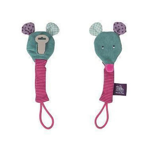 Jolis Trop Beaux Mouse Soother Holder-Baby-Moulin Roty-[color]-Swan Maternity | Baby-[size]