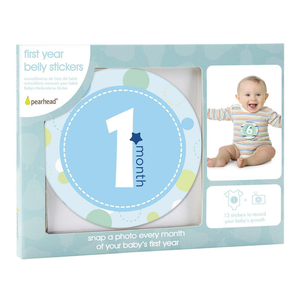 Milestone Stickers (Blue)-Baby-Pearhead-[color]-Swan Maternity | Baby-[size]