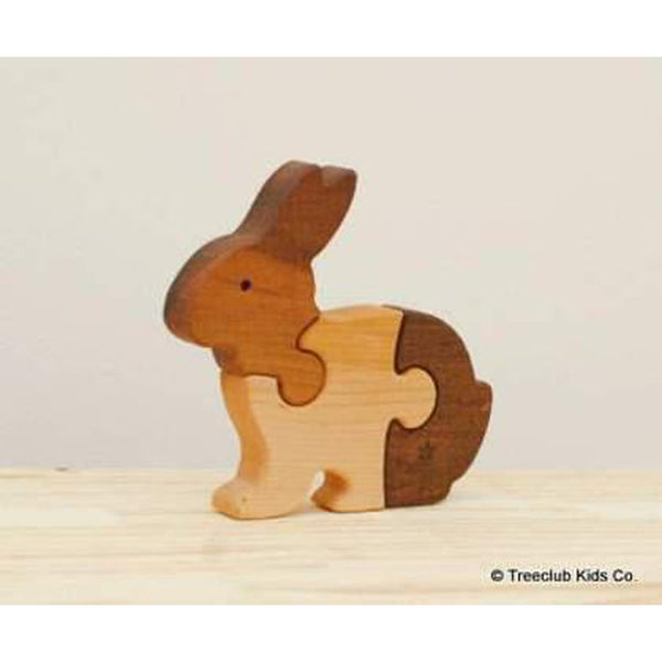 Wooden Rabbit Puzzle-Baby-Treeclub Kids-[color]-Swan Maternity | Baby-[size]