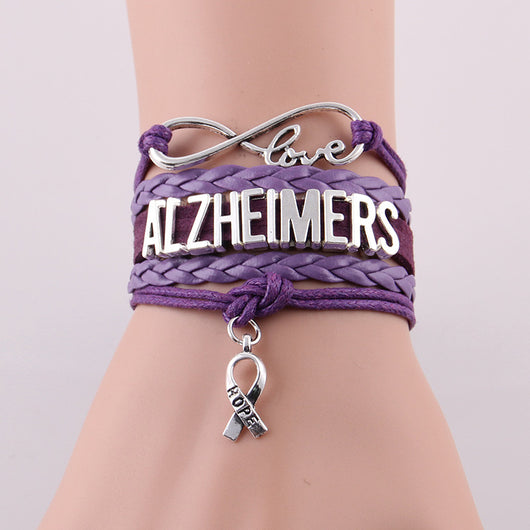 Infinity Love and Hope to Cure Alzheimers Bracelet - I Am Greek Life