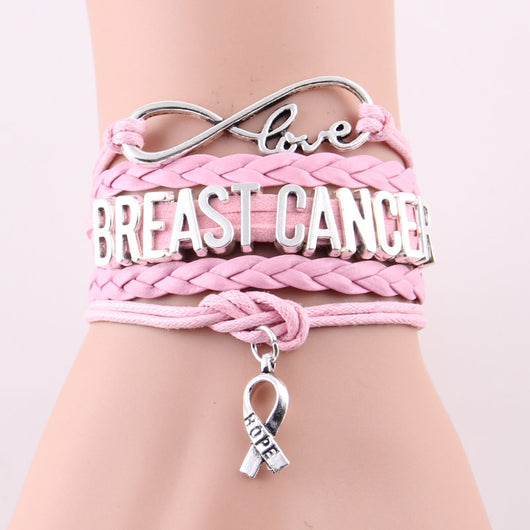 Infinity Love and Hope to cure Breast Cancer Bracelet - I Am Greek Life