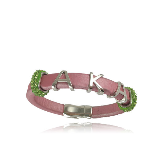 Pink & Green Alpha Kappa Alpha Bracelet - I Am Greek Life