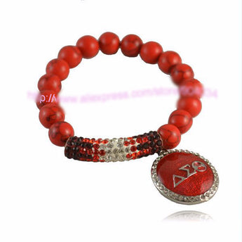 Red Stone Delta Sigma Theta Bracelet - I Am Greek Life