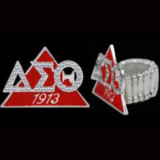Delta Sigma Theta Stretch Ring Enamel - I Am Greek Life