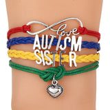 Support Autism Love Heart Woven Bracelet - I Am Greek Life