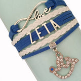 Infinity Love Zeta Phi Beta Bracelet - I Am Greek Life