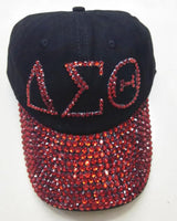 Ladies Rhinestone  Caps with Print - I Am Greek Life