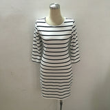 Black and White Striped Casual Dress - I Am Greek Life