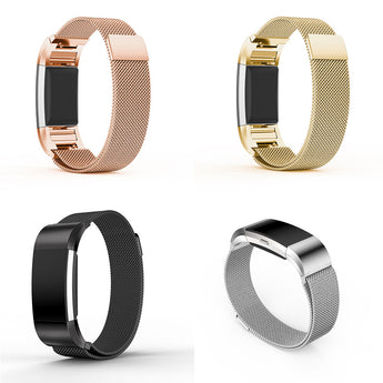 Stainless Steel Smartwatch Strap Wristwatch Band 17mm For Fitbit Charge 2