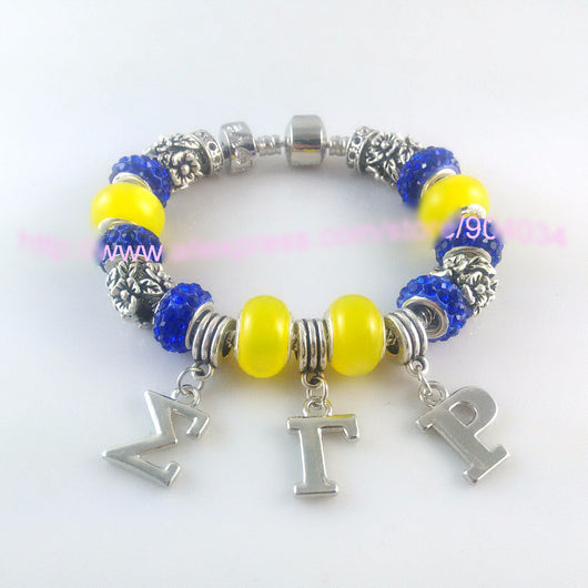 Charm Sigma Gamma Rho Sorority Bracelet - I Am Greek Life