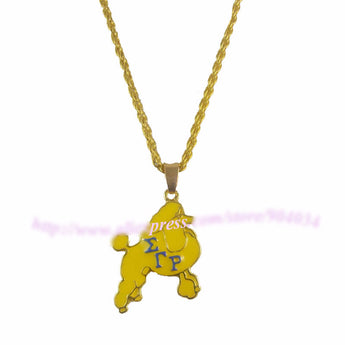 SGR Sorority Poodles Necklace Pendant - I Am Greek Life