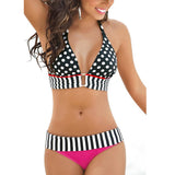 It's Your World Vintage High Waist Bikini Set Swimsuit - I Am Greek Life