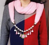 Round AKA Scarf with Necklace - I Am Greek Life