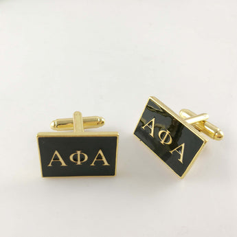 Lettered Alpha Phi Alpha Cufflinks - I Am Greek Life