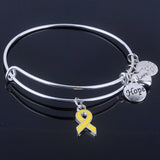 Care For Breast Cancer pink ribbon bracelet - I Am Greek Life