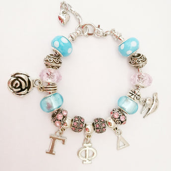 Gamma Phi Delta Sorority Charm Bracelet - I Am Greek Life