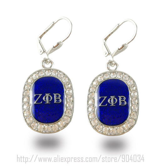 Bling Zeta Phi Beta Earrings - I Am Greek Life