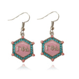Gamma Phi Delta Sorority crystal  earring - I Am Greek Life