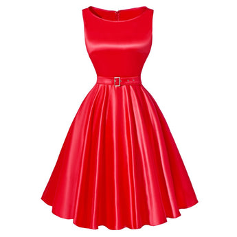 Elegant Summer 50s 60s Vintage Dress