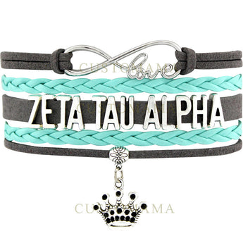 Infinity Love Zeta Tau Alpha Bracelet - I Am Greek Life