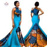 New Long Elegant Print Wax Dress - I Am Greek Life